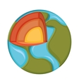 world planet earth icon vector image vector image