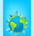 world travel concept with famous world sights vector image vector image