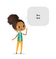 young smiling african american girl scout dressed vector image