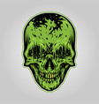 zombie skull scary vector image vector image