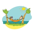 doodle beach vacation vector image