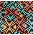Seamless with concentric circles vector image