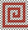 Gray white red checkered background vector image