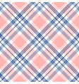 plaid check pattern in navy blue pink and white vector image