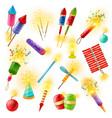 pyrotechnics firework cracker sparkler colorful vector image
