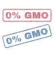 0 percent gmo textile stamps vector image vector image