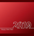 2019 one line red vector image