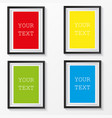 3d picture frames design for a4 image or text vector image vector image