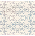 Abstract Seamless Geometric Hexagon Pattern Mesh vector image