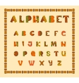 Alphabetic in ethnic african desision vector image vector image
