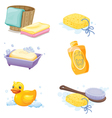 Bathroom accessories vector image vector image