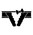 bikini icon simple black style vector image vector image