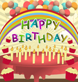 birthday card vector template vector image vector image