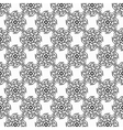 Black circular hand-drawn pattern on white vector image vector image