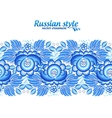 Blue floral ornate line in gzhel style vector image vector image
