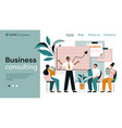 business consulting page template vector image