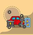 car service maintenance battery remote key system vector image