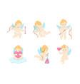 cartoon characters cupids set vector image
