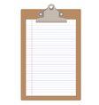Clipboard with paper vector image vector image