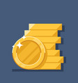 coins stack flat coin money vector image vector image