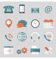 Contact us flat icons vector image vector image
