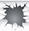 cracked hole ilustration vector image vector image