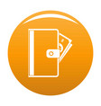 credit card icon orange vector image
