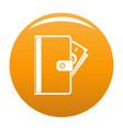 credit card icon orange vector image vector image