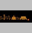curitiba light streak skyline profile vector image vector image