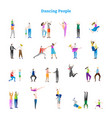 dancing people collection vector image