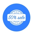 Discount icon in black style isolated on white vector image vector image