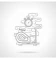 Exercise bike flat line icon vector image vector image