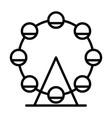 ferris wheel line icon simple minimal pictogram vector image