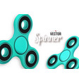fidget spinner banner 3d realistic modern vector image vector image