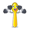 fitness character spoon plastic for kid meal vector image