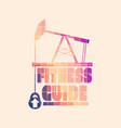 fitness guide concept vector image vector image