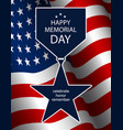 For memorial day silhouette star medal vector image