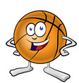 fun basketball mascot cartoon vector image vector image