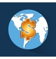 global economy planet concept vector image vector image