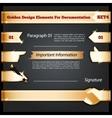Golden Design Elements For Documentation Set4 vector image