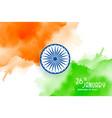 happy republic day india creative watercolor vector image vector image