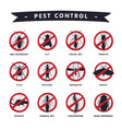 harmful insects prohibition signs moth mosquito vector image vector image