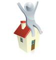 house silver man 2013 a1 vector image vector image