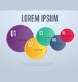 infographics elements template vector image vector image