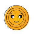 kawaii coin design vector image