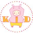 kid girl vector image