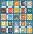 Laundry flat icons on blue background vector image