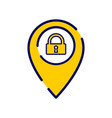 location icon with padlock sign vector image