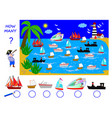 math education for children help pirate count vector image