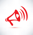 megaphone loudspeaker isolated symbol vector image vector image